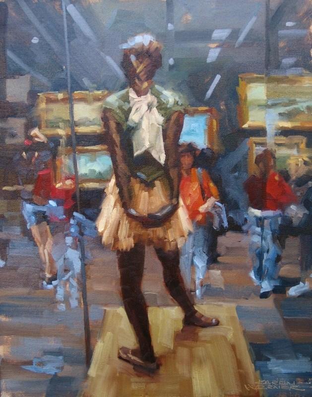 """""""Bronze Ballerina"""" original fine art by Karen Werner"""