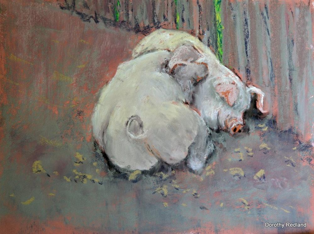 """Best freinds"" original fine art by Dorothy Redland"