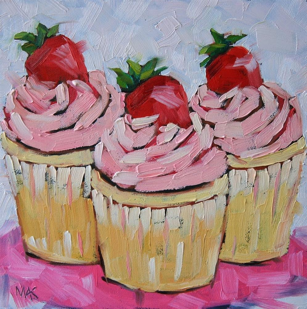 """Forget the Cherry on Top"" original fine art by Mary Anne Cary"