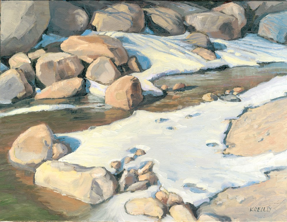 """River Rocks"" original fine art by Kath Reilly"