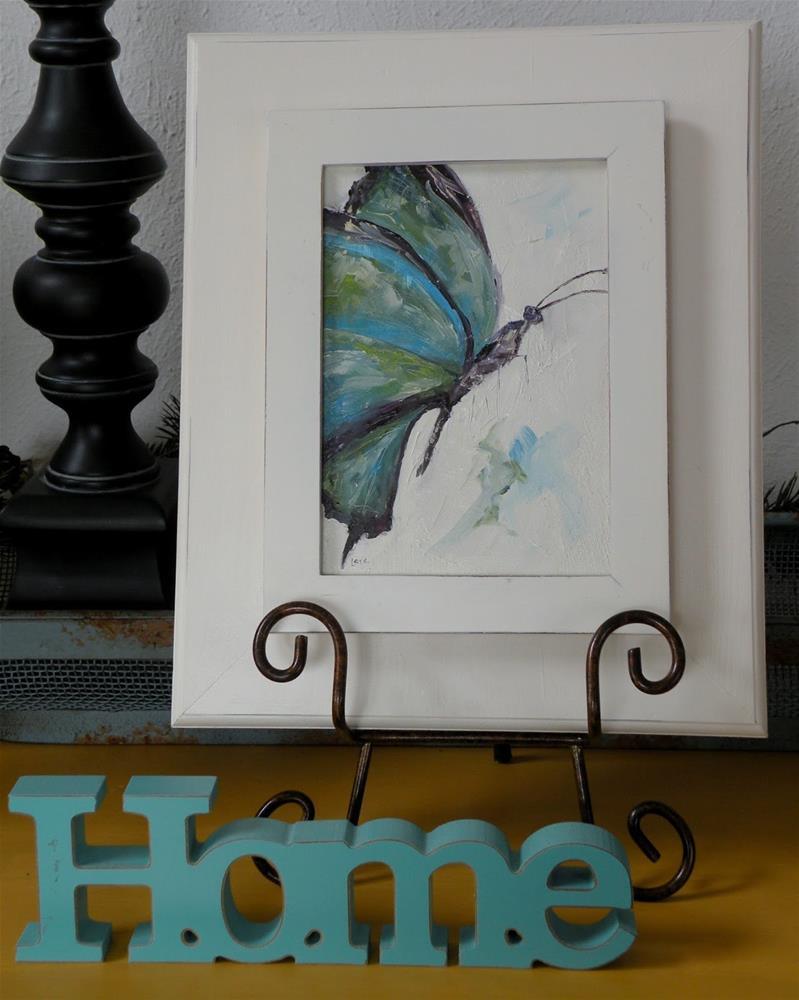 """Butterfly in Blue"" original fine art by Saundra Lane Galloway"