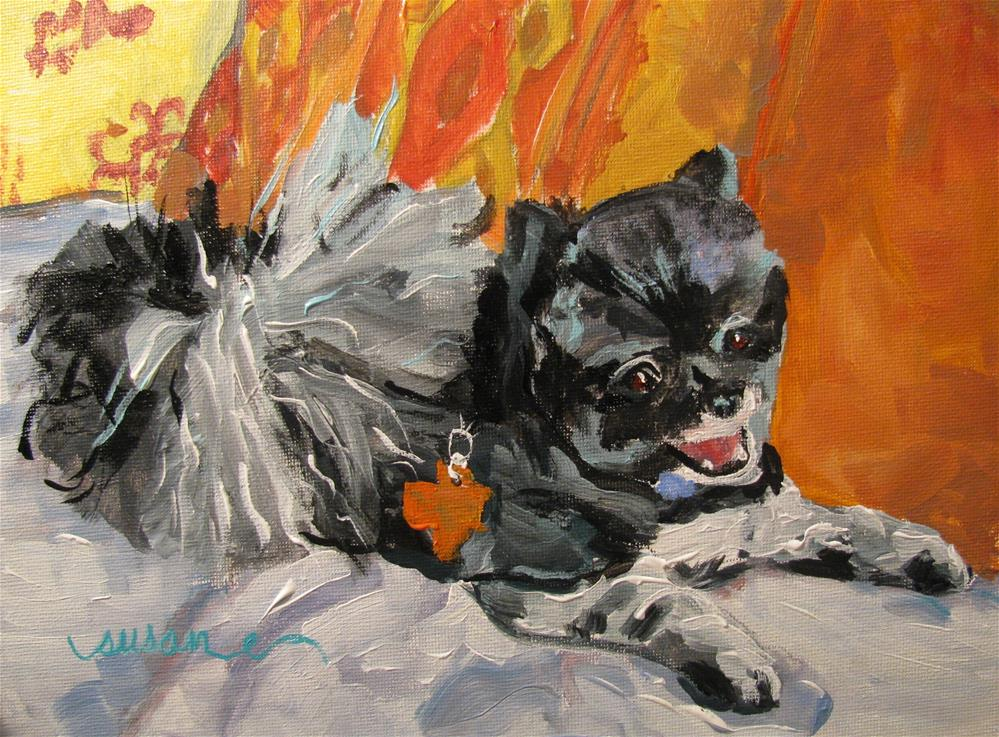 """Bruiser  http://fineartamerica.com/featured/bruiser-susan-jones.html"" original fine art by Susan Elizabeth Jones"