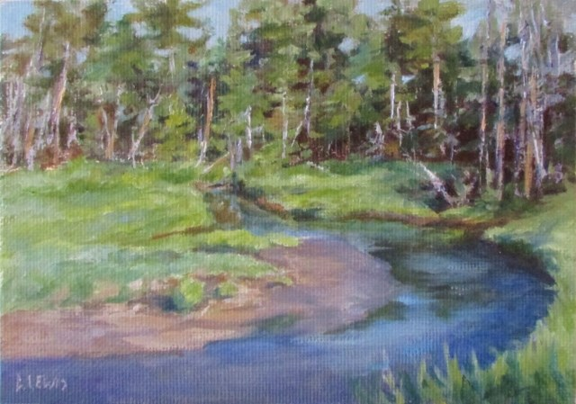 """Steep Creek"" original fine art by Christine Lewis"
