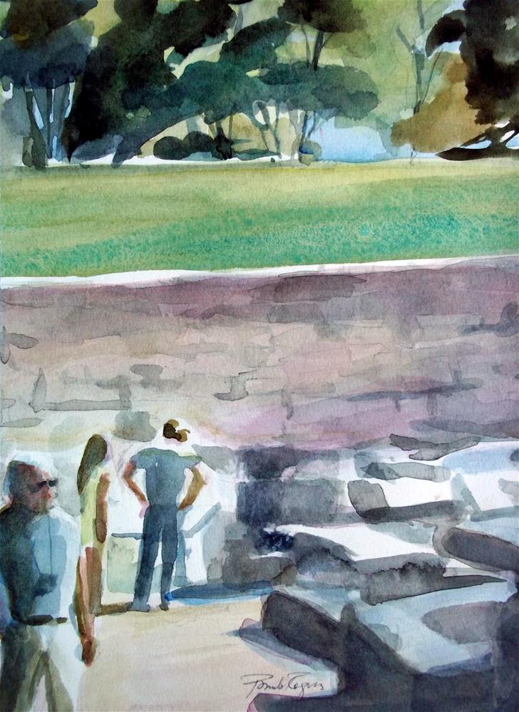 """Olympian Remains"" original fine art by Pamela Jane Rogers"