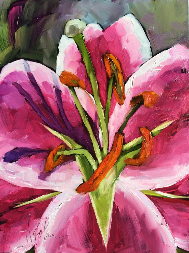 """Lily Stamen"" original fine art by Hallie Kohn"