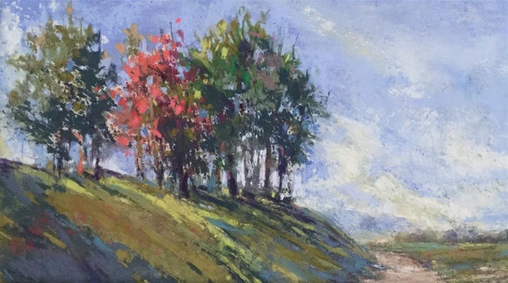 """High on the Hill"" original fine art by jeri greenberg"