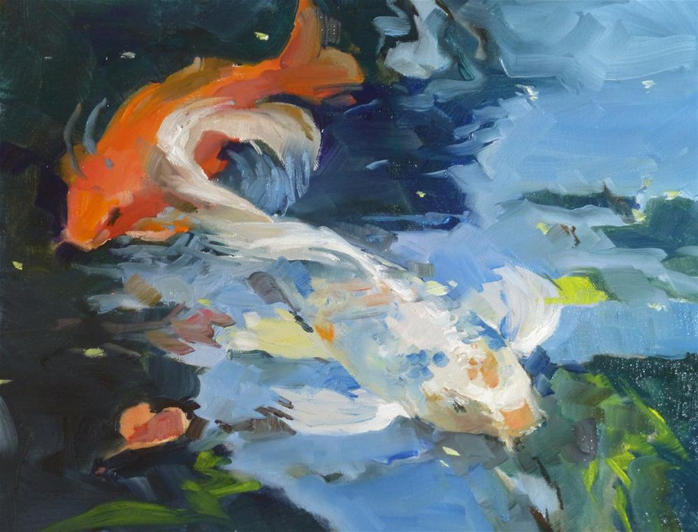 """Koi"" original fine art by Jeri Ireland"