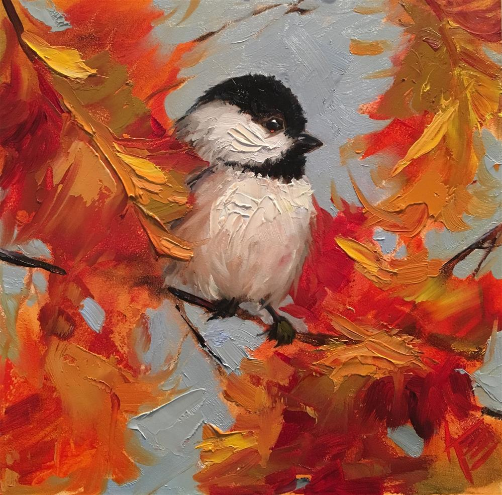 """Warm & Fuzzy"" original fine art by Krista Eaton"