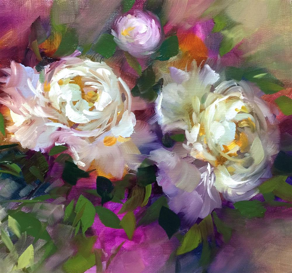 """Breaking Color Records with my Online Class! Garden Dancers and Painting Brilliant Colors"" original fine art by Nancy Medina"
