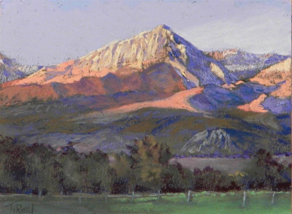 """Sierra sunset"" original fine art by Toby Reid"
