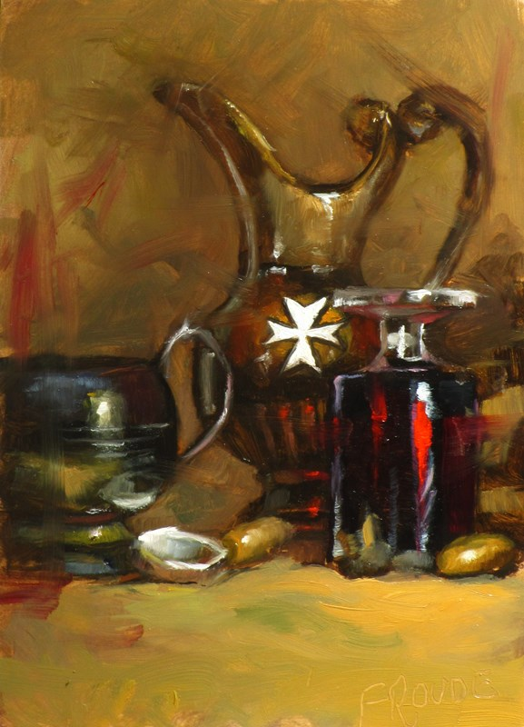 """maltese cross"" original fine art by Dave Froude"