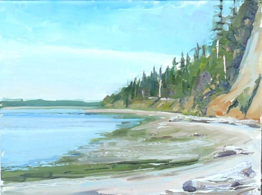 """State Park Camano Island"" original fine art by Joy Olney"