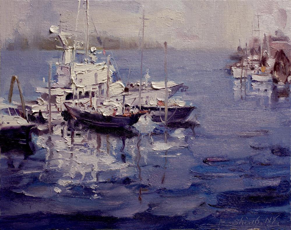 """""""Ship  (3)"""" original fine art by fengshi jin"""