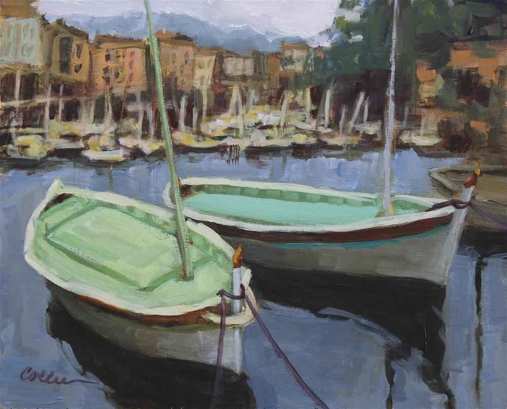 """Cassis Fishing Boats"" original fine art by Colleen Parker"