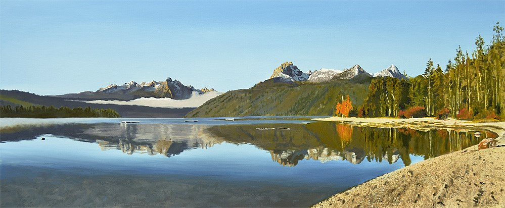 """Redfish Lake Reflections"" original fine art by Andy Sewell"