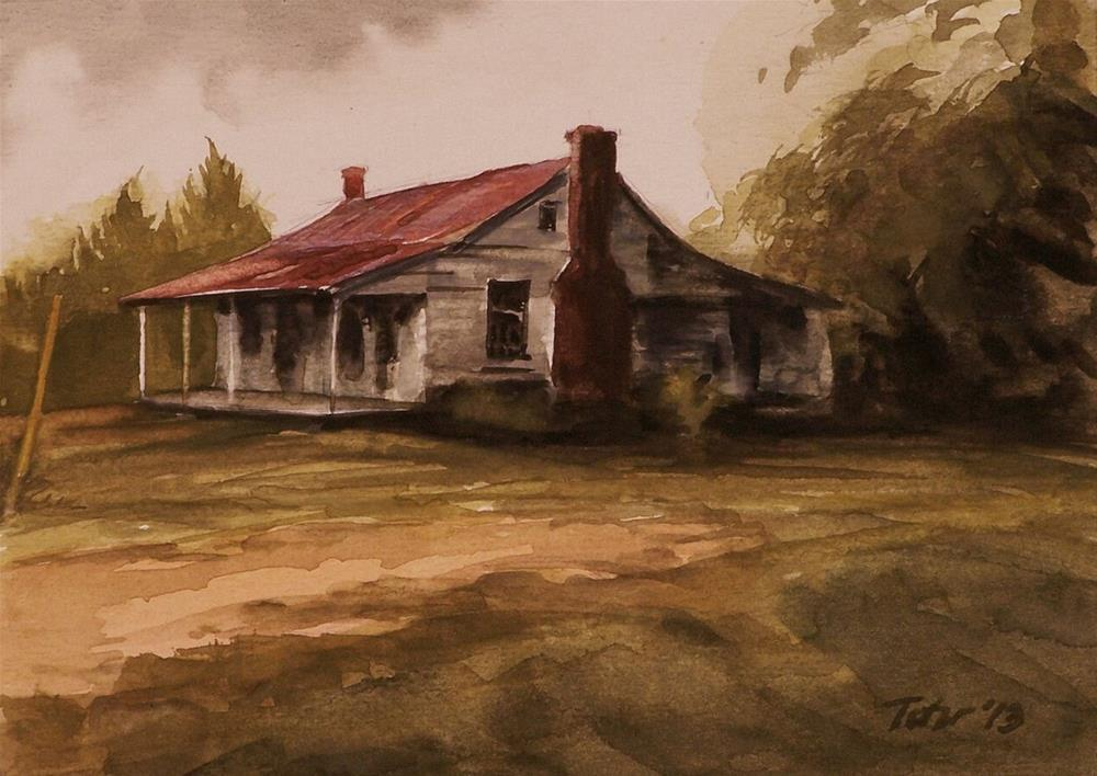 """Old House (Zorn Palette)"" original fine art by David J. Teter"