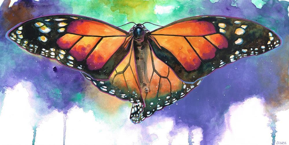 """Butterfly"" original fine art by Annabel Chance"