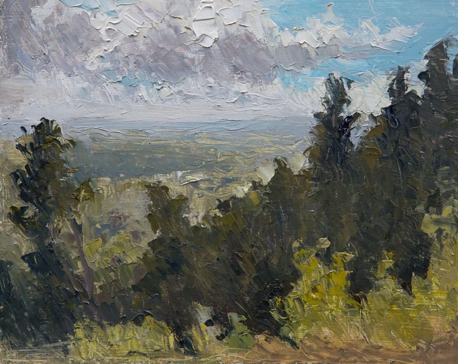 """Leith Hill Vista"" original fine art by Jethro Knight"