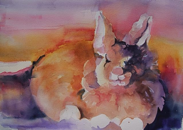 """Mr. Rabbit 3"" original fine art by Reveille Kennedy"