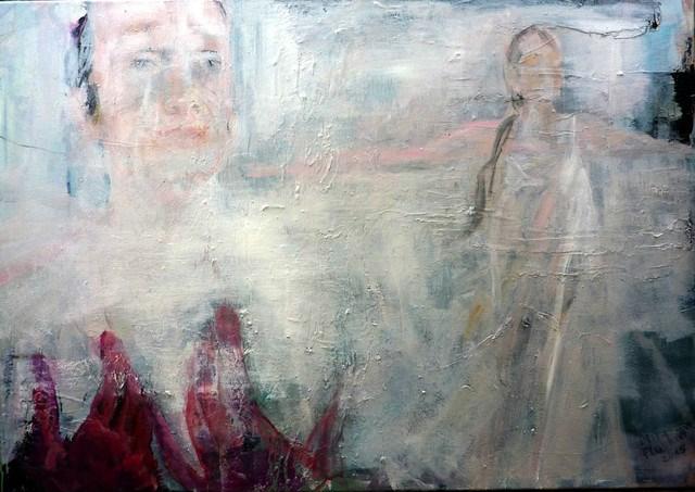 """""""rote Hände / red hands"""" original fine art by Mila Plaickner"""