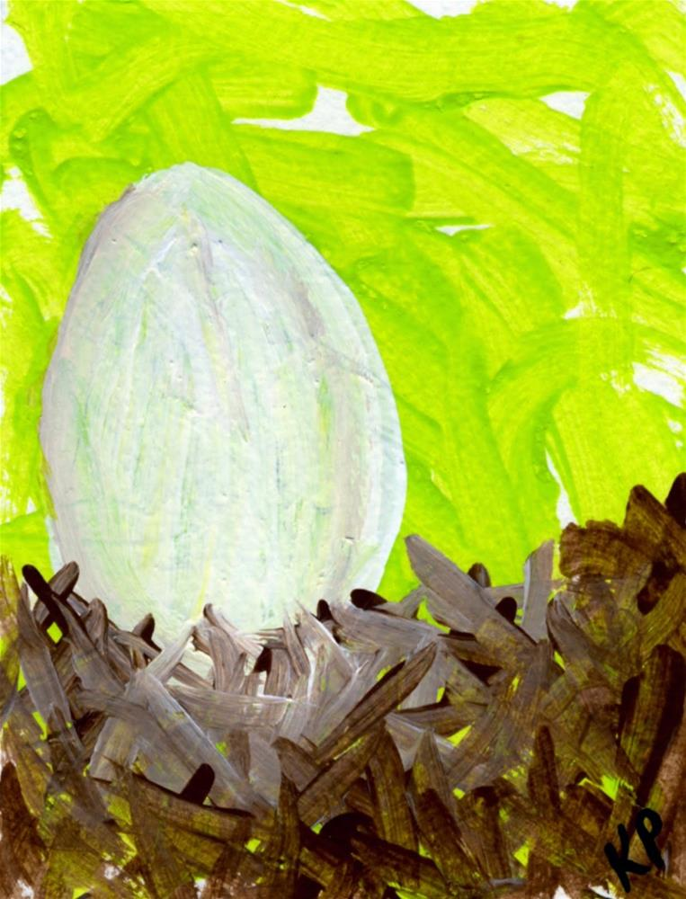 """""""Eggcellent!"""" original fine art by Kali Parsons"""