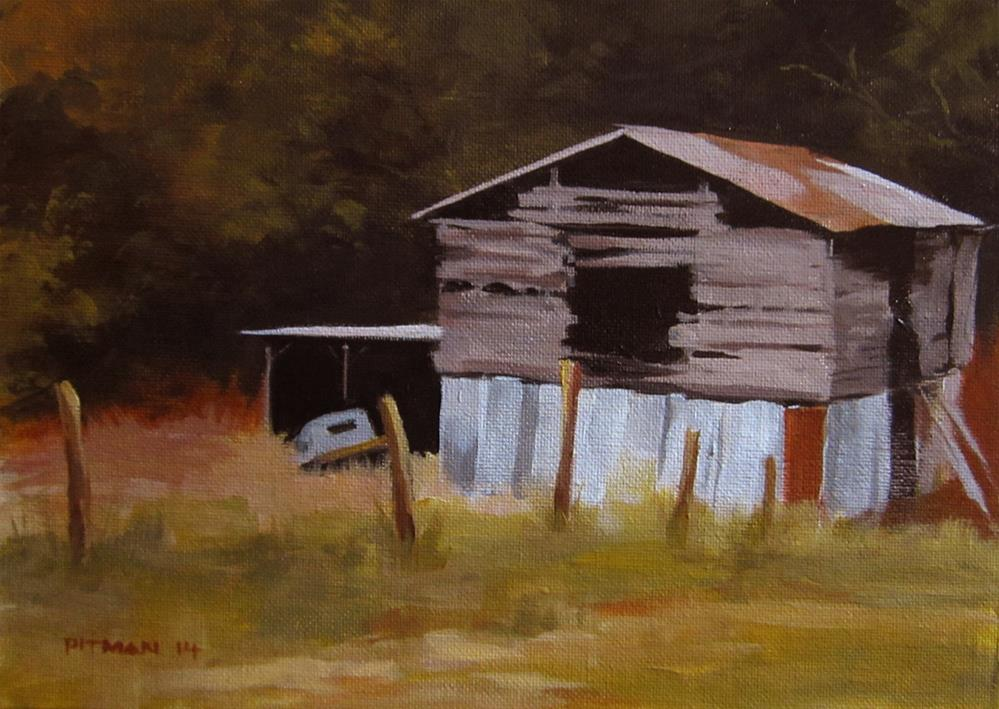 """Lawrence's Barn"" original fine art by Tom Pitman"