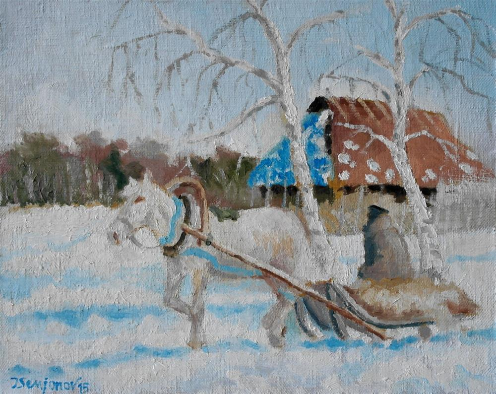 """winter way"" original fine art by Juri Semjonov"