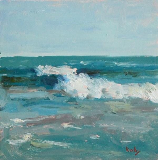 """Fast Waves"" original fine art by Randall Cogburn"