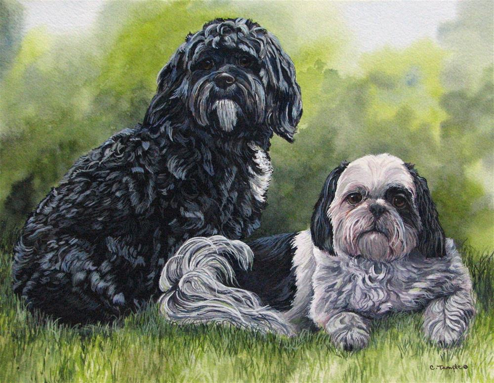 """Maxine and rudy"" original fine art by Catherine Temple"