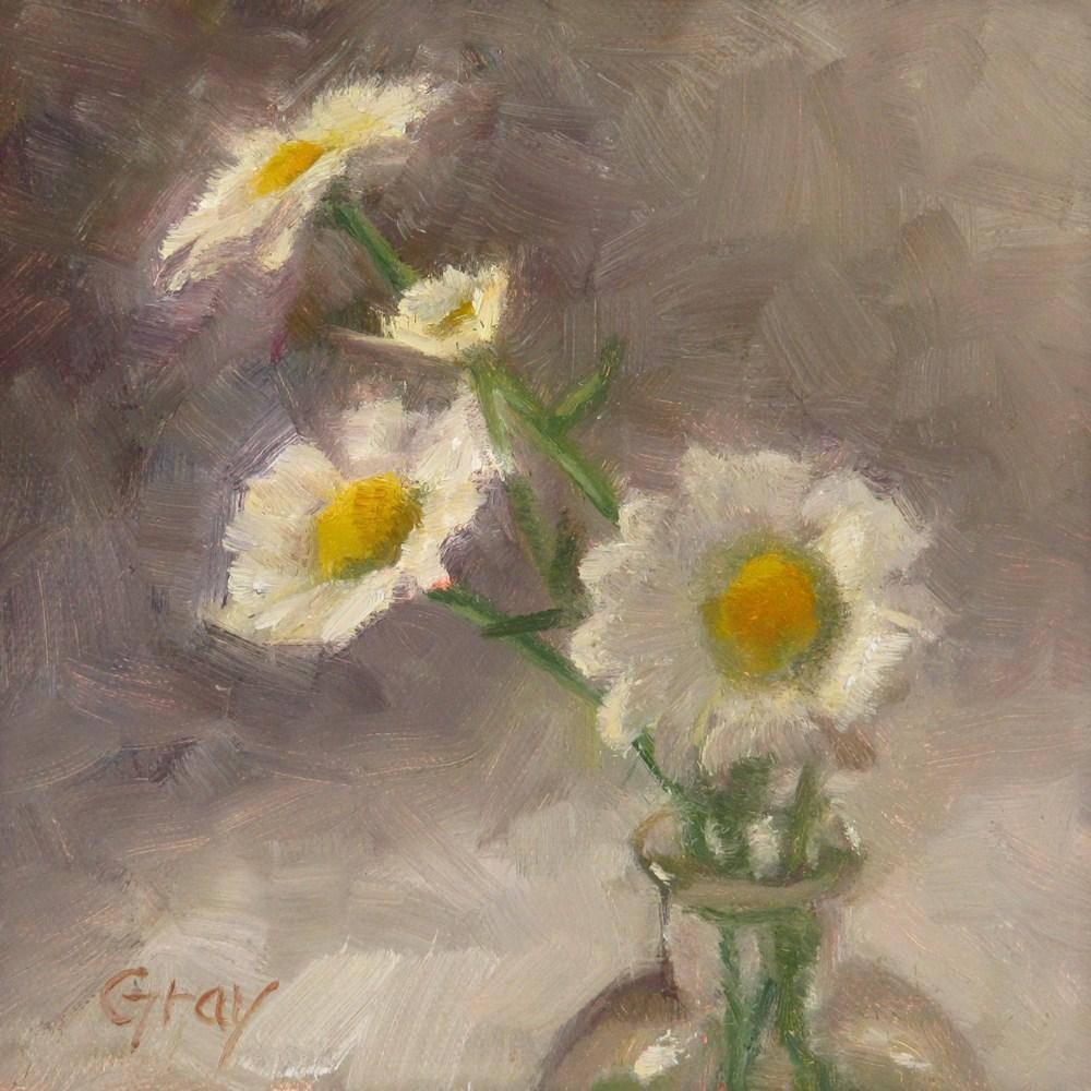 """Daisies in White No. 2"" original fine art by Naomi Gray"
