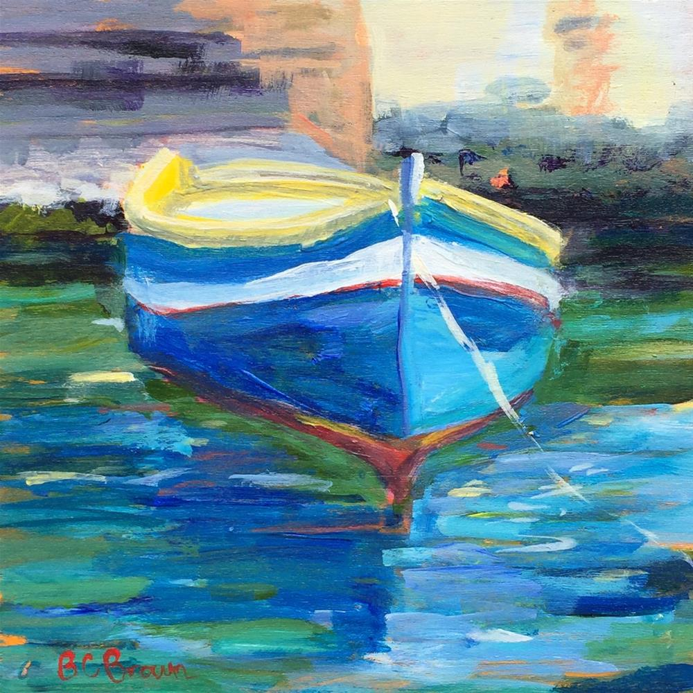 """Malta Boat Study"" original fine art by Beth Carrington Brown"