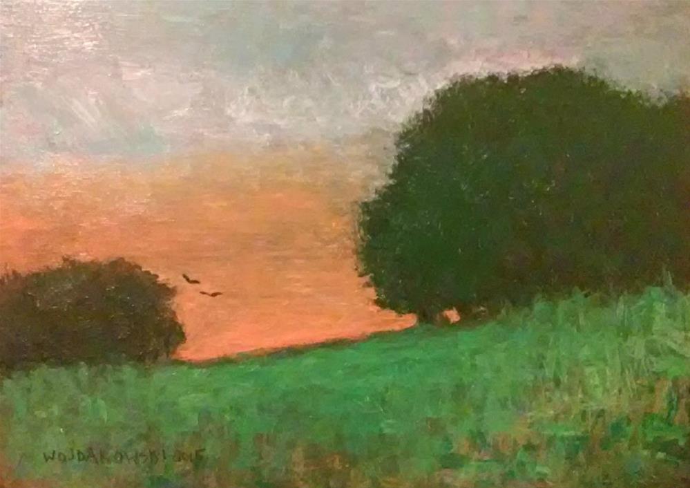"""Quiet evening"" original fine art by Joe Wojdakowski"