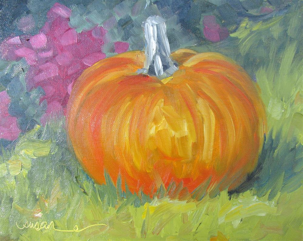 """Autumn Pumpkin II"" original fine art by Susan Elizabeth Jones"