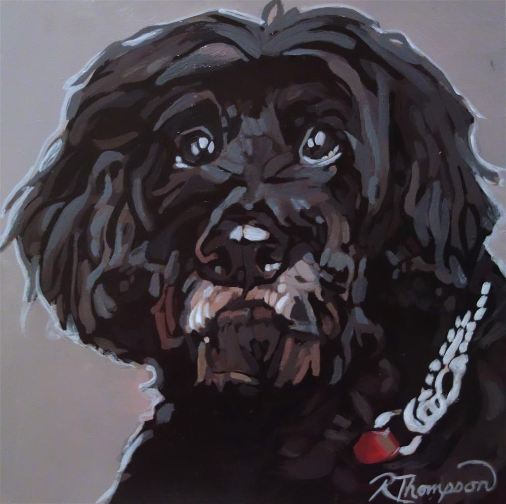 """Bruno-  Day 27"" original fine art by Rachel Thompson"