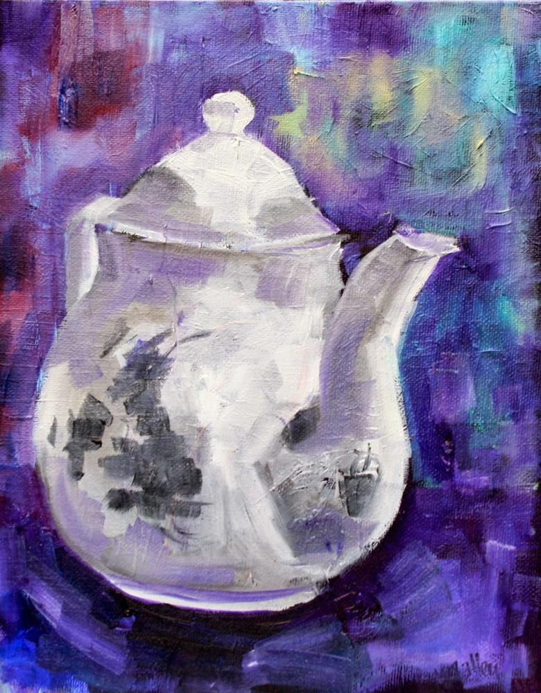 """Modern Monday: Patience, Set Design, Teapots and Chairs"" original fine art by Maggie Flatley"