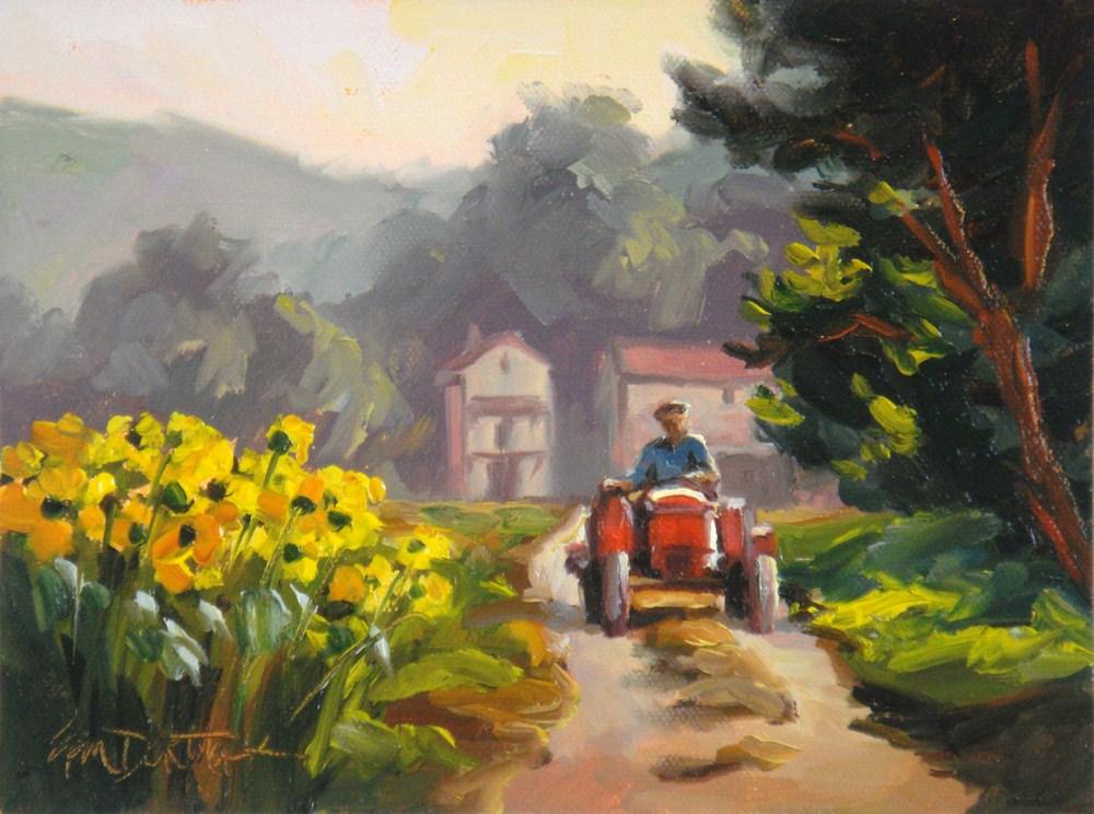 """French Farmer"" original fine art by Erin Dertner"