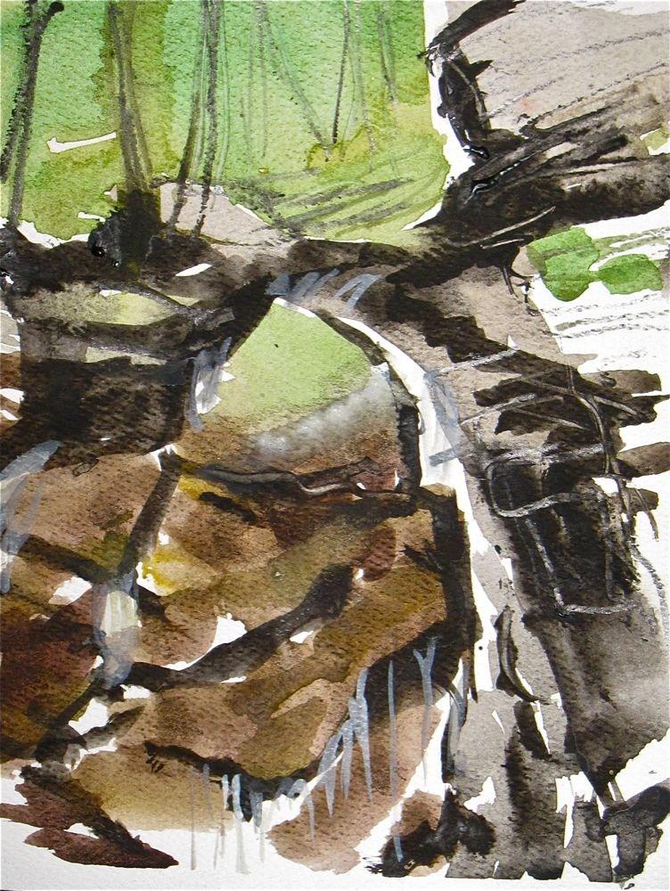 """Treasure Hunt Falls by Gretchen Kelly, New York Artist"" original fine art by Gretchen Kelly"