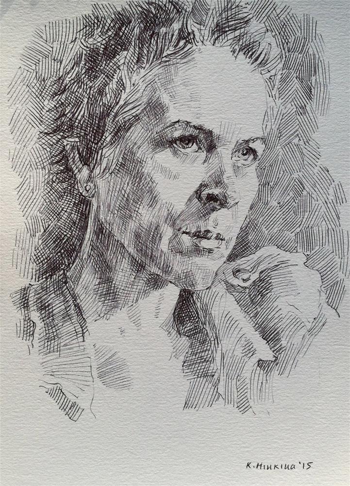 """""""tvshow11"""" original fine art by Katya Minkina"""