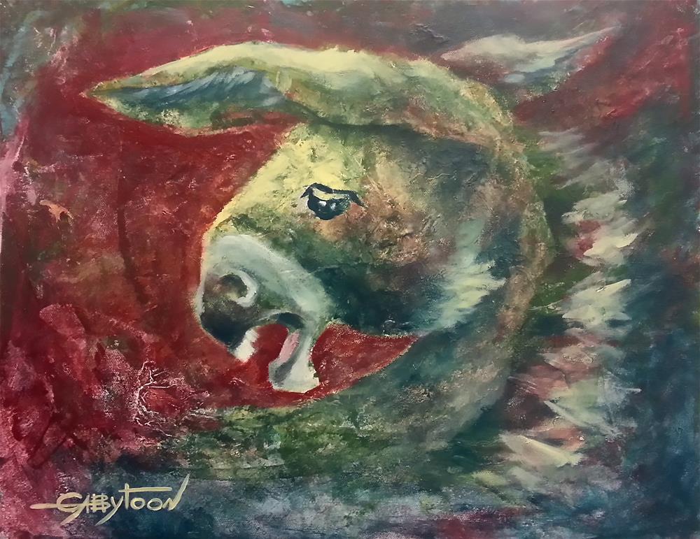 """""""Crazy Donkey"""" original fine art by Gabriella DeLamater"""