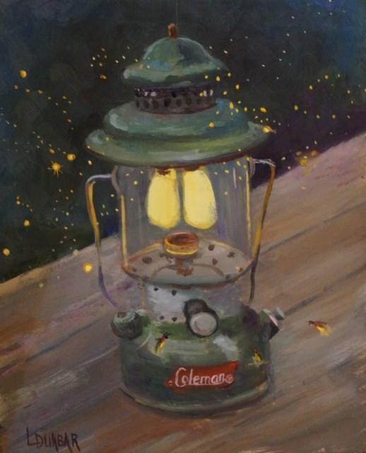 """Vintage Coleman"" original fine art by Linda Dunbar"