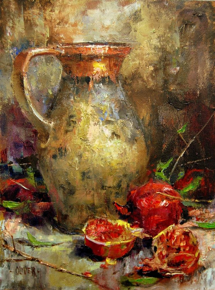 """Ancient Pitcher at Thanksgiving"" original fine art by Julie Ford Oliver"