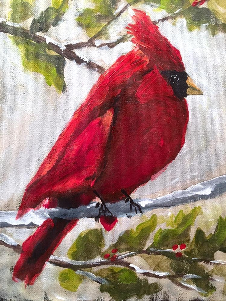"""""""Cardinal"""" original fine art by Susan Elizabeth Jones"""