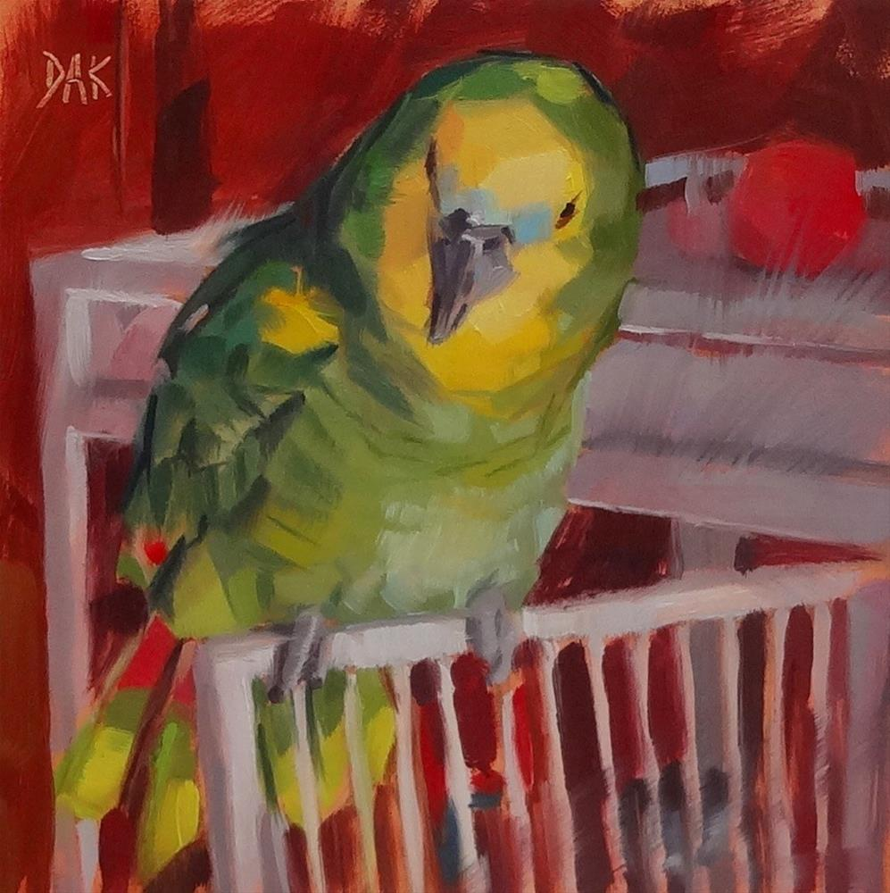 """Pretty Birdie"" original fine art by Deborah Ann Kirkeeide"