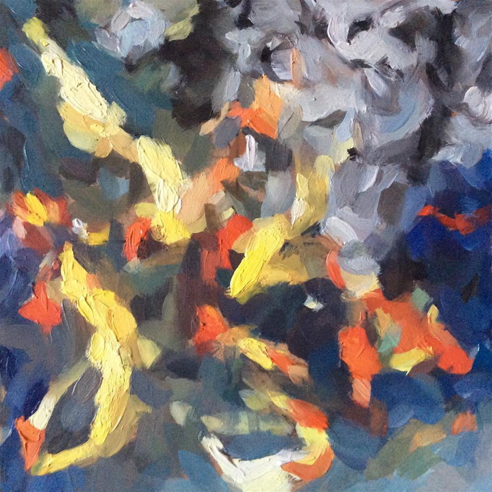 """Abstract Fish"" original fine art by Paula Howson-Green"