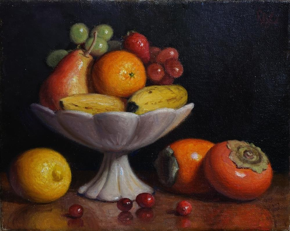 """Mixed Fruit Bowl"" original fine art by Debra Becks Cooper"