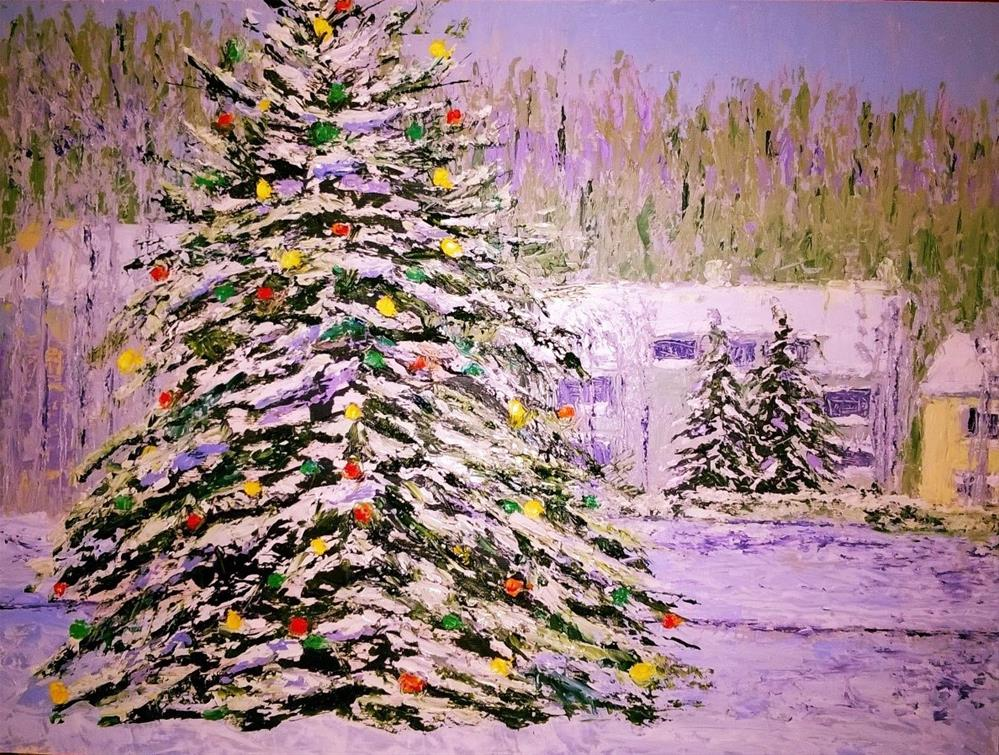 """Last Shout for Christmas!"" original fine art by Jules Fine Art Gallery"