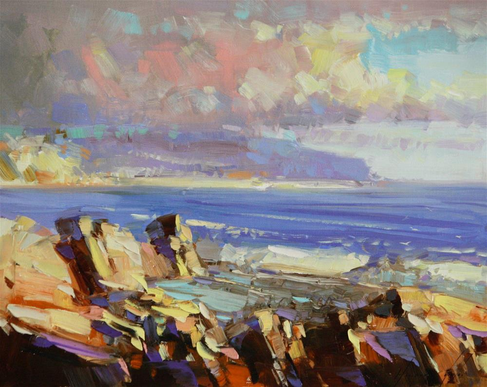 """THE CLIFFS"" original fine art by V Y"