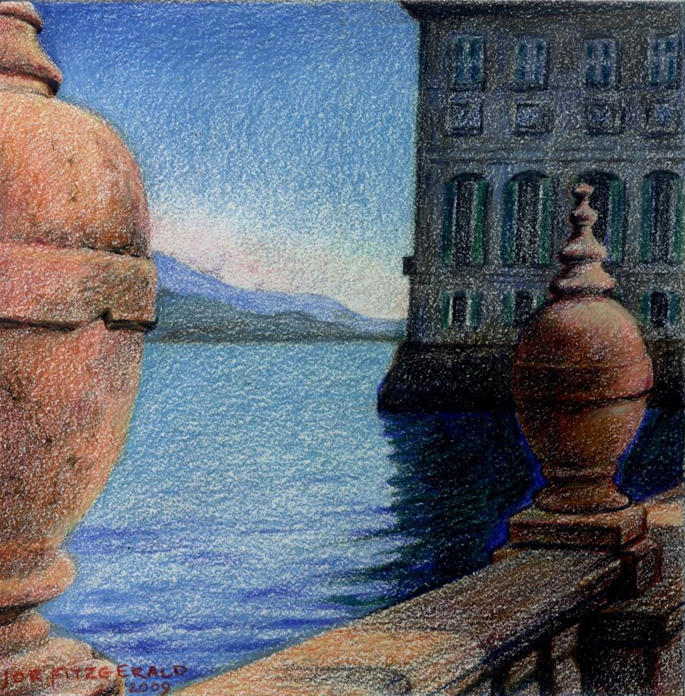 """Isola Bella Terrace"" original fine art by Joe Fitzgerald"
