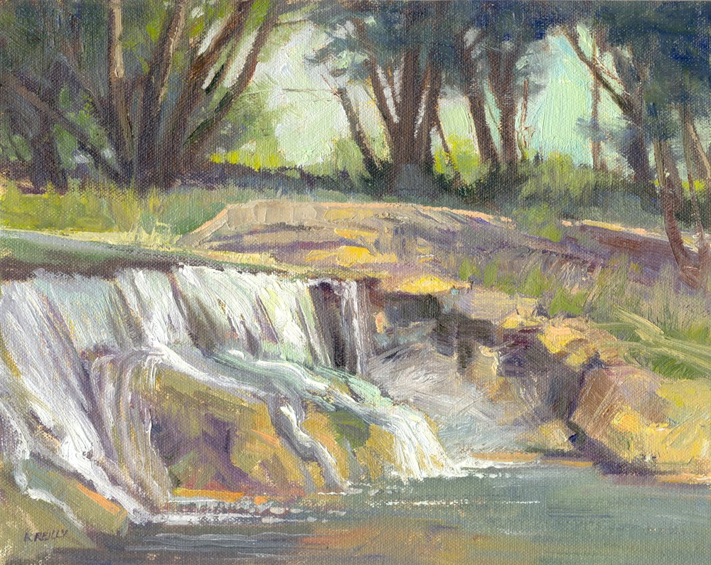 """The Falls"" original fine art by Kath Reilly"