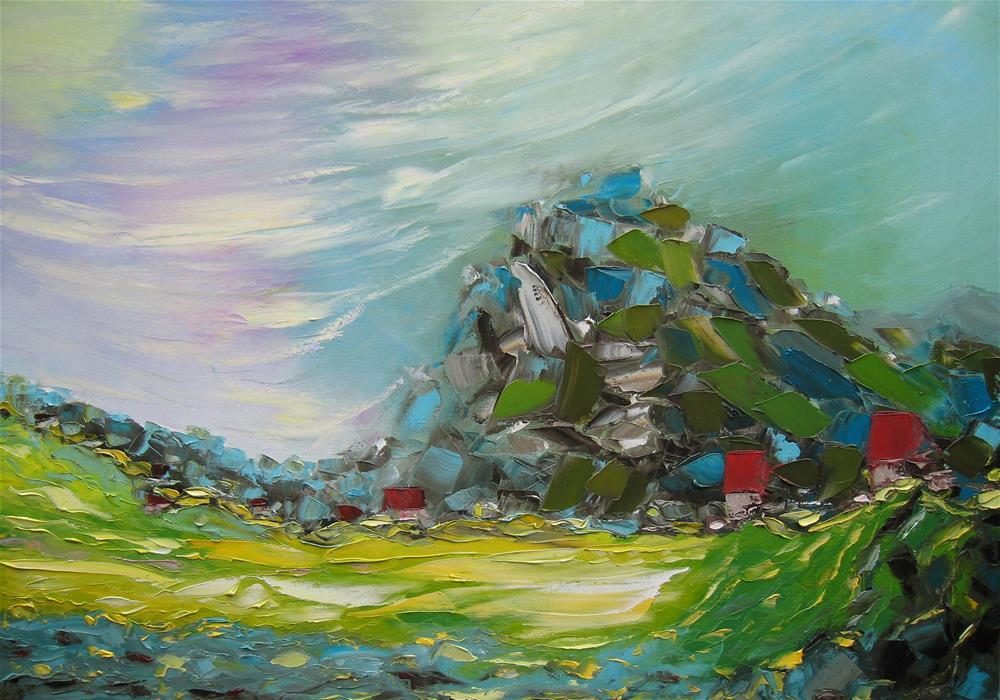 """Copper mountain"" original fine art by Elena Lunetskaya"
